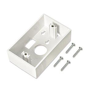 (Surface Mount Back-Box for Face Plate, Single Gang, 1.45 Inches Deep, White, Intellinet 517867)