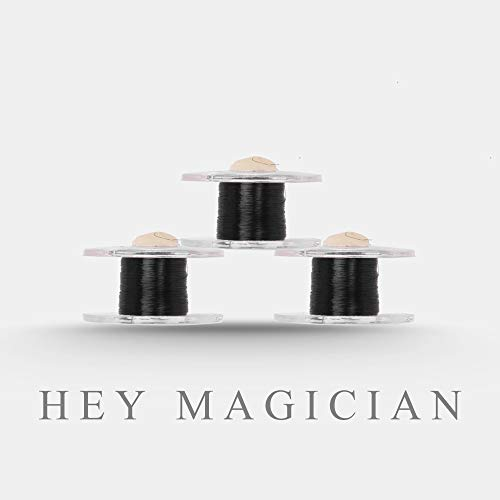 (Scroll Type Invisible Thread(Black) Magic Tricks Funny Stage Magic Used for Venom Floating Magic Street Illusion Props Gimmick Mentalism for Magicans (3pcs))