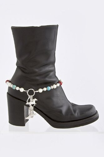 Mighty Gadget ANKLETS - COWBOY BOOT CHAIN (Color Choices: Brown, Red, Turquoise, Turquoise/Red) - Random Color Selection Subject to Stock on Hand