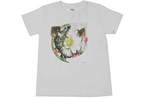 Obey Teebs Flower 1 T-Shirt 264590407GRY Womens Small Dusty Light Grey