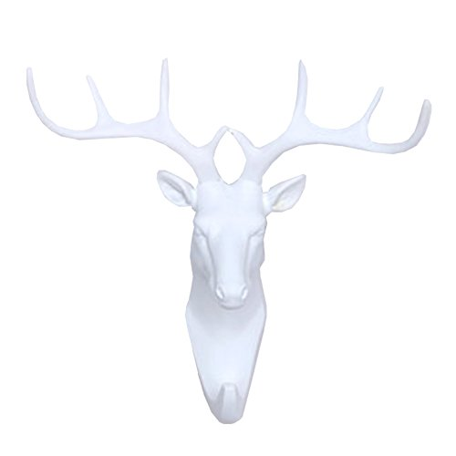 Lanburch Creative Utility Wall Hook Bathroom Hook Towel Hook Animal shaped Deer White by Lanburch