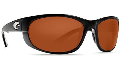 Costa Del Mar Howler 580P Howler, Shiny Black Copper Columbus-Mate, - Howler Costa 580p