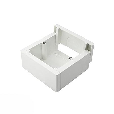 Caja de superficie enlazable 85x85x42mm: Amazon.es: Bricolaje y herramientas