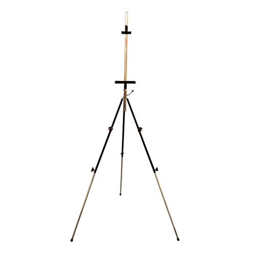 Adult Aluminum Field Easel For Painting - Adjustable Drawing Tripod, Holder, Stand With Handy Carrying Storage Bag For Outdoor Table-Folding Art Bracket Top Floor Drawing Field Painting Sketching,Blac ()