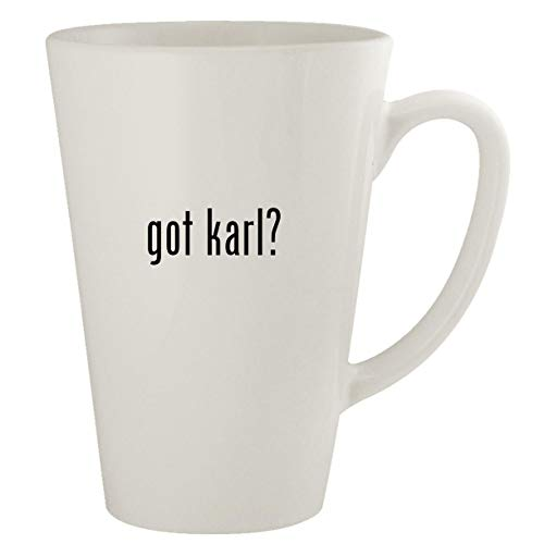 got karl? - Ceramic 17oz Latte Coffee Mug (Karl Pilkington A Day In The Life)