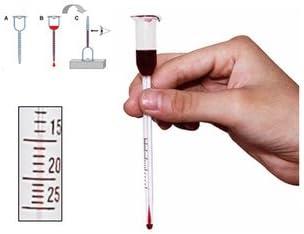 Glass Vinometer Wine Alcohol Meter For Testing Home Made Wine HI