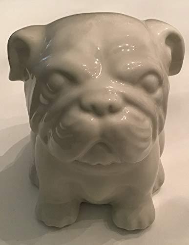 (Retro Threshold White English Bulldog Stoneware Cookie Jar)