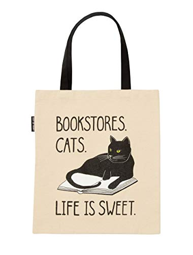 Out of Print Bookstore Cats Tote Bag
