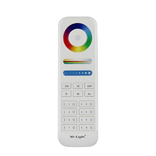 FUYUTEC Milight 2.4G RF Wireless LED Controller 8-Zone Area RGB+CCT Smart Touch Remote