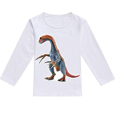 2e9a93fc5a7 NUWFOR Toddler Baby Kids Boys Girls Spring Dinosaur Print Tops T-Shirt  Casual Clothes(