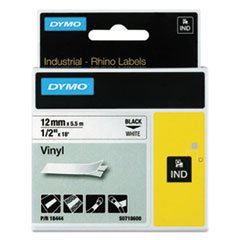 Dymo RhinoPro Tape Cartridge - 0.50quot; Width x 18 ft Length - 1 Each - Vinyl - Thermal Transfer - (Dymo Rhinopro Tape Cartridge)