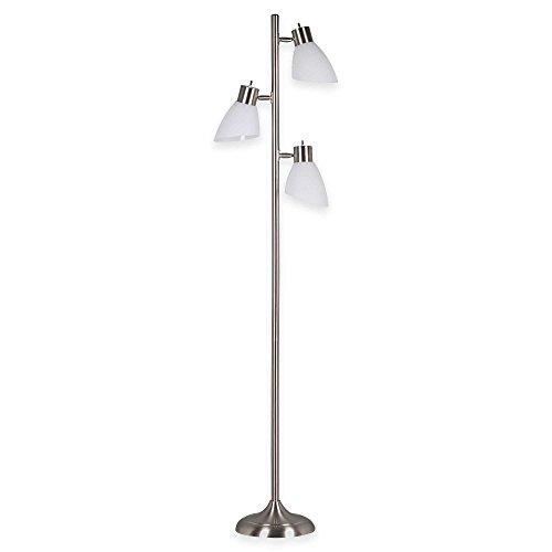 Balanced Spectrum Floor Lamp (Floor Lamp, Brooke 3-Light Tree in Brushed Steel 10