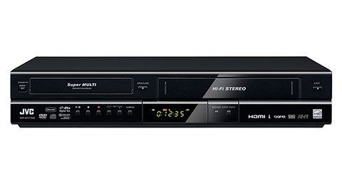 NEW JVC ALL MULTI REGION CODE ZONE FREE DVD RECORDER PLAYER VCR COMBO WITH DIGITAL ATSC TUNER and HDMI 1080p Upconverting [DRMV150] (Remote Control Included, Free HDMI Cable)