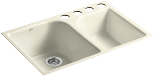 KOHLER K-5931-4U-FD Executive Chef Undercounter Kitchen Sink, Cane Sugar