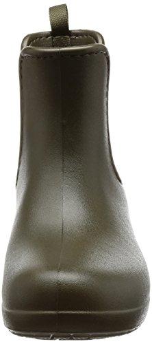 crocs Damen Freesail Chelsea Boot Women Gummistiefel Grün (Dark Camo Green)