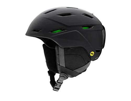 Smith Optics Mission-Mips Adult Ski Snowmobile Helmet - Matte Black/Large