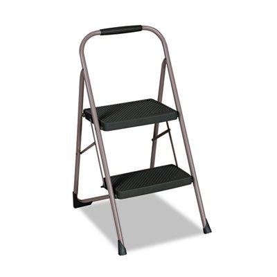 Cosco 11-308PBLD4 Two Step Big Step with Large Front Feet and Grip Grey