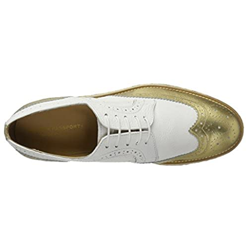 Blanco Mujer Zapatos Para Passport Wing Lovely British Cap Derby wq0B8Cx