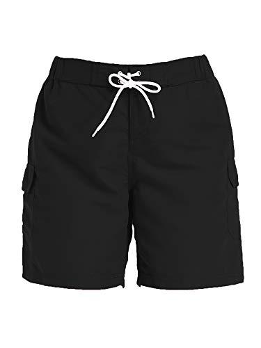 Sweet Bei J Damen Shorts Badeshorts mit Tasche Sommer Kurze Hosen Schnell Trocknendes Badehose