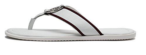 OPP Casual Men leather Flip Flops Flat Sandals White PYcZt