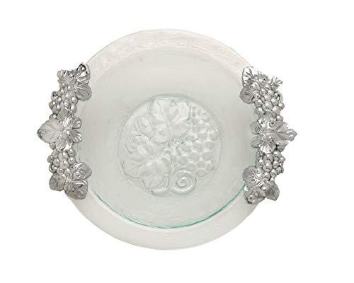 Arthur Court Grape Glass and Metal Salad Bowl, 16-Inch