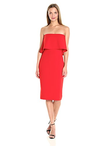 LIKELY Women's Driggs Strapless Dress, Scarlet, ()