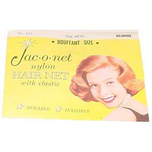 Jac-o-net Nylon Hair Net Bouffant With Elastic 255 Blonde