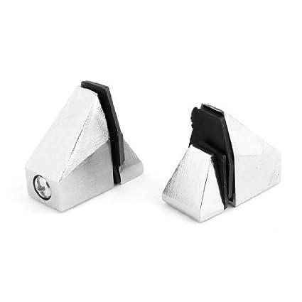 2pcs de plata 15mm metal tono Soporte Espesor la tarjeta de ...