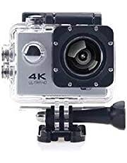 كاميرا اكشن رياضيه 4k مع واي فاي وريموت 60fps لون فضي