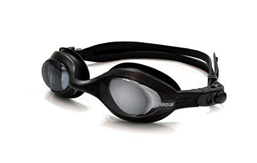 (Splaqua Prescription Swim Goggles Black Strap Tinted Lens Anti Fog -9.00)
