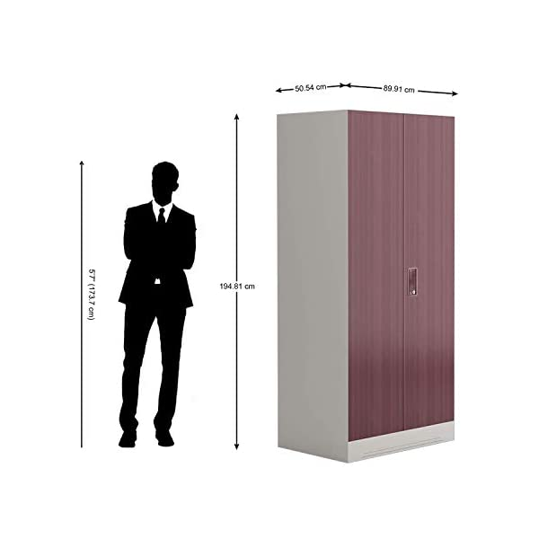 GODREJ INTERIO Slimline Fantasia 2 Door Steel Almirah with Locker in Dark Wood,Glossy Finish 2021 July Dimensions W x H x D (cm): 90 x 195 x 50.7 / Primary Material: Mild Steel / Delivery Condition :Knock Down / Free Assembly Provided Beautiful Fantasia Door:The furniture with which you furnish your home reflects your style and sensibilities. The sleek Slimline Wardrobe adds style points to your bedroom. Sturdy CRCA Build :CRCA Steel has stood the test of time and durability. This is why the Slimline Wardrobe excels in both, giving a piece that is strong and long-lasting.