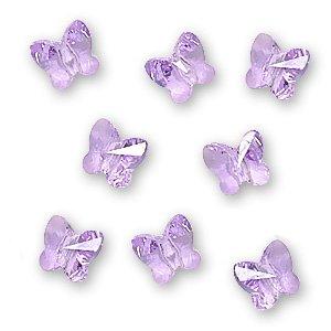 - SWAROVSKI ELEMENTS Crystal Butterfly Beads #5754 6mm Violet (8)