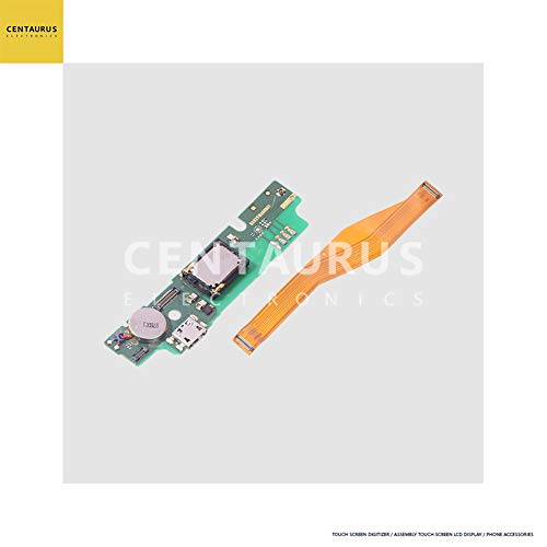 CENTAURUS fit Alcatel A30 Plus Charging Connector USB Charger PCB Board Port Dock with Main Flex Cable Replacement Part Compatible Alcatel A30 Plus 5049S 5.5