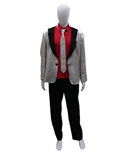 Halloween Party Online Joker Suit Costume, Sliver Adult (M) -