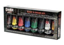 SoHo Urban Artist Acrylic Basic 8 Color Set 75 ml Tubes by Soho Urban Artist