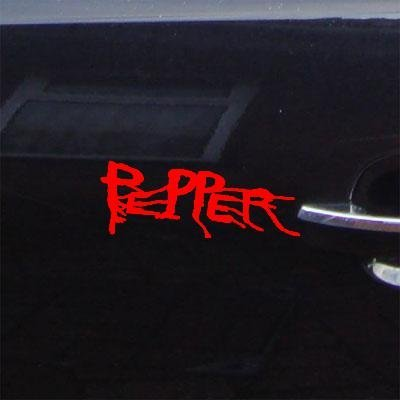 (reprowiwi MacBook Laptop Red Car Adhesive Vinyl Helmet Kona Hawaii Band Album Pepper Sticker Decal Auto Decoration Art Vinyl Notebook Wall Car Bike)