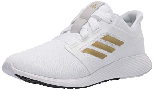 adidas Women's Edge Lux 3 Running Shoe, White/Gold Metallic/White, 6 M US