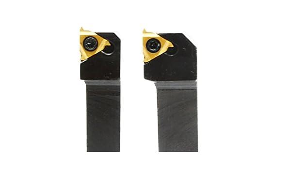 11ER 1//4/'/'AG60 Insert 100mm SER1010H11 Lathe Threading Turning Tool Holde