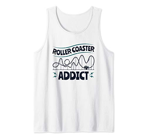Roller Coaster Addict - Amusement Park Roller Coaster Tank Top