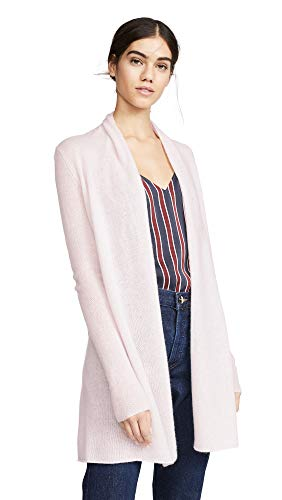 White Warren Cashmere Cardigan - White + Warren Women's Essential Trapeze Cashmere Cardigan, Powder, X-Small
