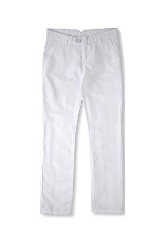 Armani Linen Trousers - Armani Junior Trousers in Linen Blend Canvas, White, Size: 16A