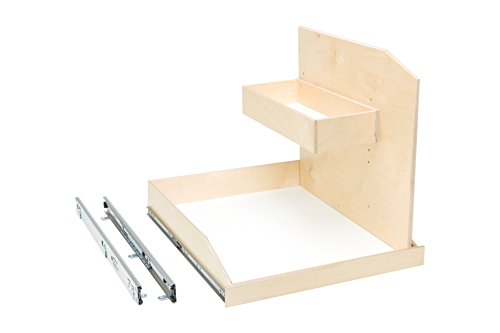 Slide-A-Shelf AMC-PL-SCU-21W22D18H-F Baltic Birch Sink Caddy Slide-Out Shelf with Full Extension, 21'' x 22'' x 18'' by Slide-A-Shelf