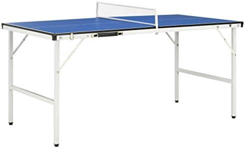 Tidyard Mesa de Ping Pong con Red Azul con asa integrada 152x76x66 ...