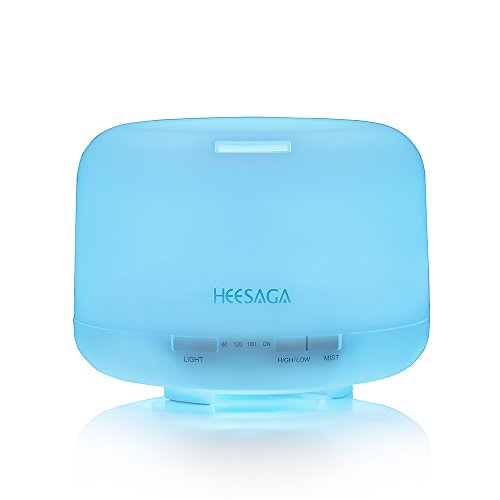 Lowest Prices! HEESAGA Aromatheraphy Essential Oil Diffuser, 500ml Ultrasonic Air Humidifier with 4 ...