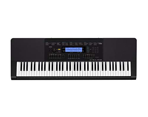 Casio WK-245 76-Key Touch Sensitive Keyboard with Power Supply (Renewed) (Casio Mp3 Player)