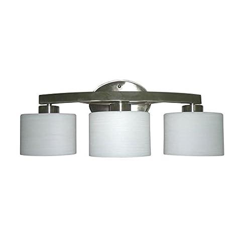 Allen + Roth 3 Light Merington Brushed Nickel Standard Bathroom Vanity Light