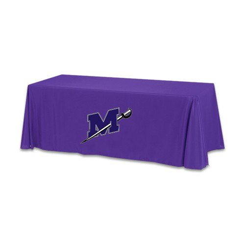 Millsaps Purple 6 foot Table Throw 'Official Logo' by CollegeFanGear
