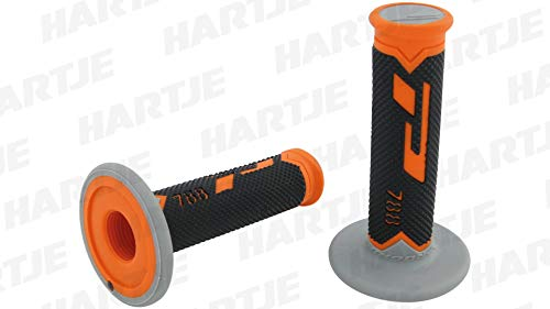 Pro Grip Triple Density Gel Grips Model 788 Grey - Grips Orange Dirtbike