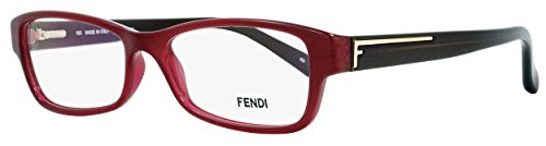 Fendi Rectangular Eyeglasses F1037 603 Size: 52mm Bordeaux/Brown - Frames Eye Fendi
