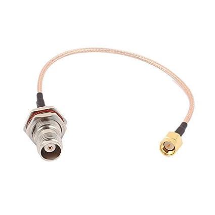 DealMux TNC-KY hembra a SMA-J Male RG316 Cable coaxial flexible de conexión